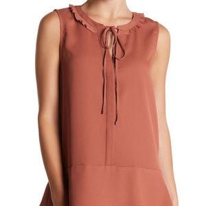 Pleione sleeveless ruffle tunic XL blouse
